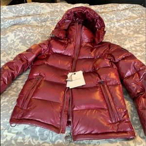 Gorgeous red puffer coat
